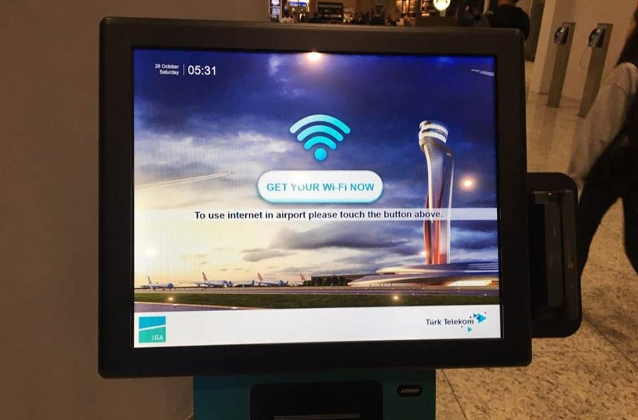 как подключиться к Wi-Fi в аэропорту Стамбула